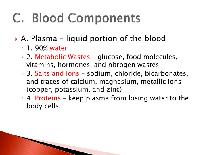 C.  Blood Components
