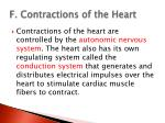 f contractions of the heart