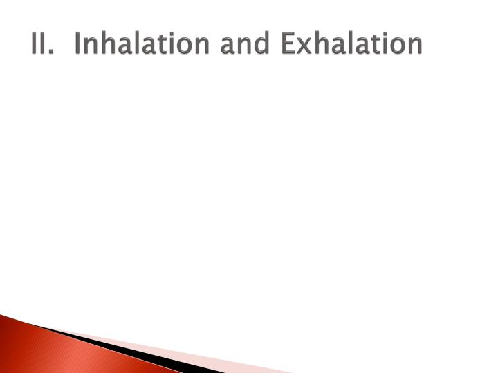 II.  Inhalation and Exhalation