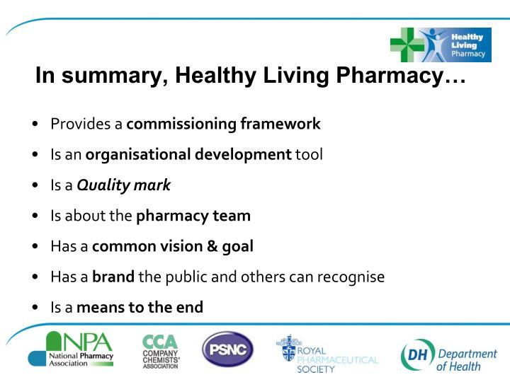 In summary, Healthy Living Pharmacy…