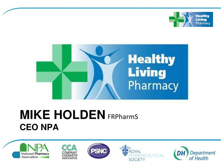 Mike holden frpharms ceo npa