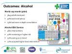 outcomes alcohol