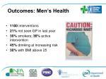 outcomes men s health