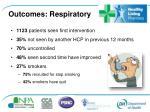 outcomes respiratory