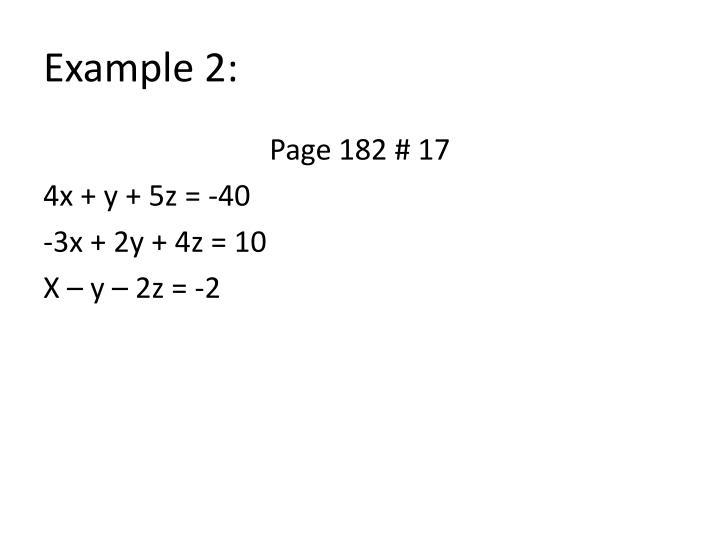 Example 2:
