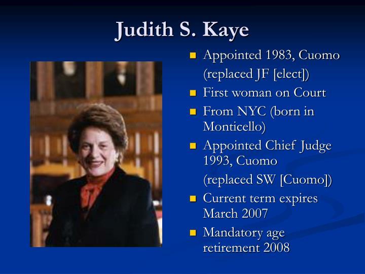 Judith S. Kaye