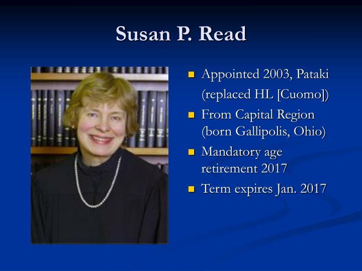 Susan P. Read