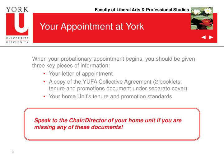 Your Appointment at York