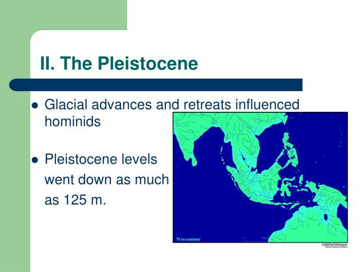 II. The Pleistocene