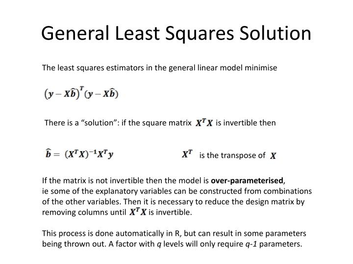 General Least Squares Solution