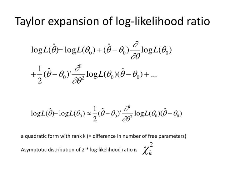 Taylor expansion of log-likelihood ratio
