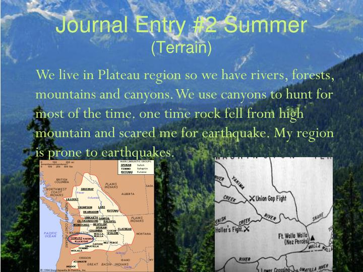 native north americans journal entry of Some of their objectives was to establish a colony in north america the columbian exchange also introduced the native americans to the fatal journal entries.