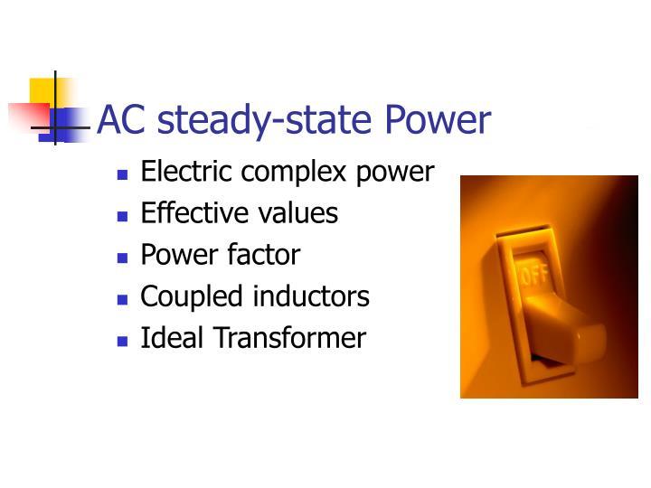 AC steady-state Power