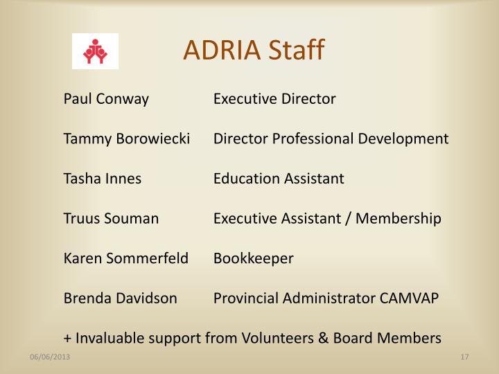ADRIA Staff