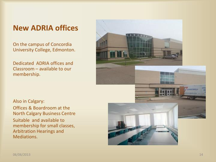 New ADRIA offices
