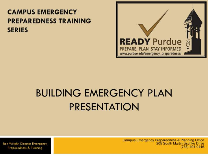 Emergency Plans For Businesses