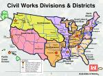 civil works divisions districts