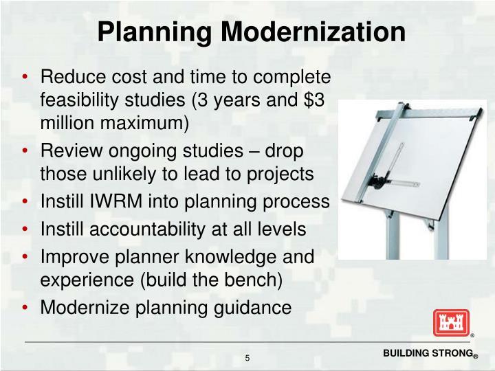 Planning Modernization