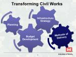 transforming civil works