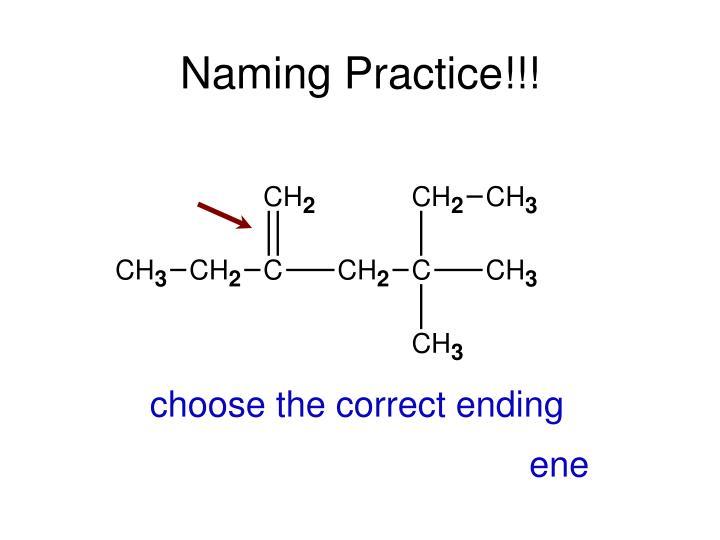 Naming Practice!!!