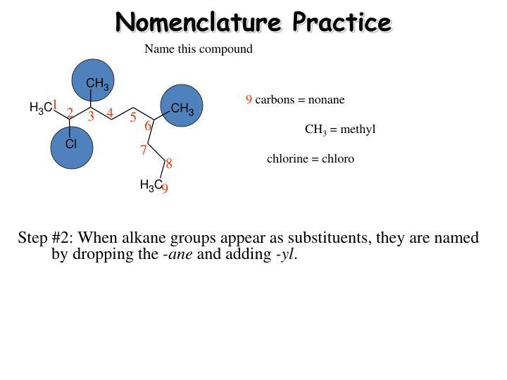 Nomenclature Practice
