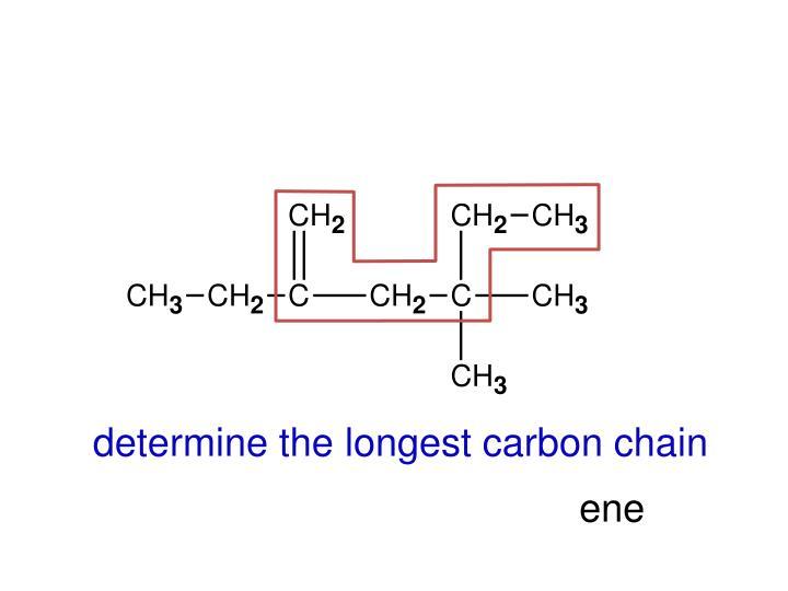 determine the longest carbon chain