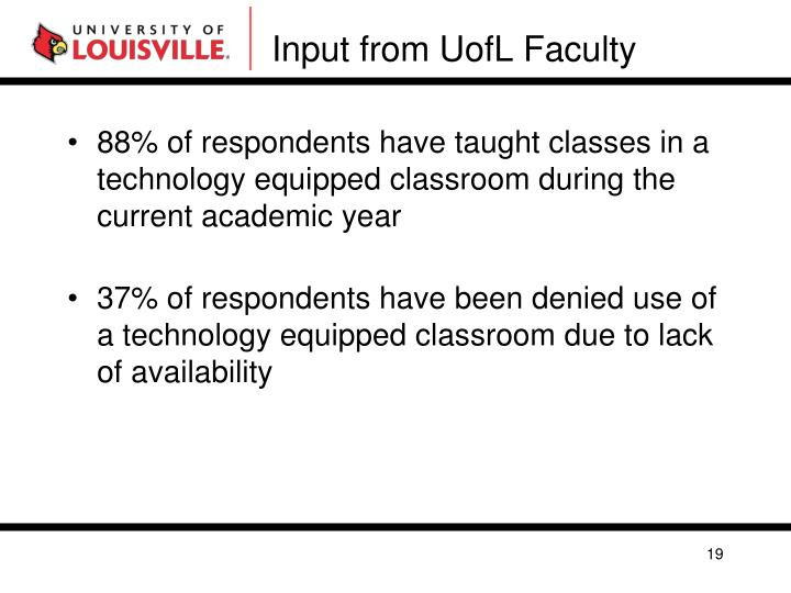 Input from UofL Faculty