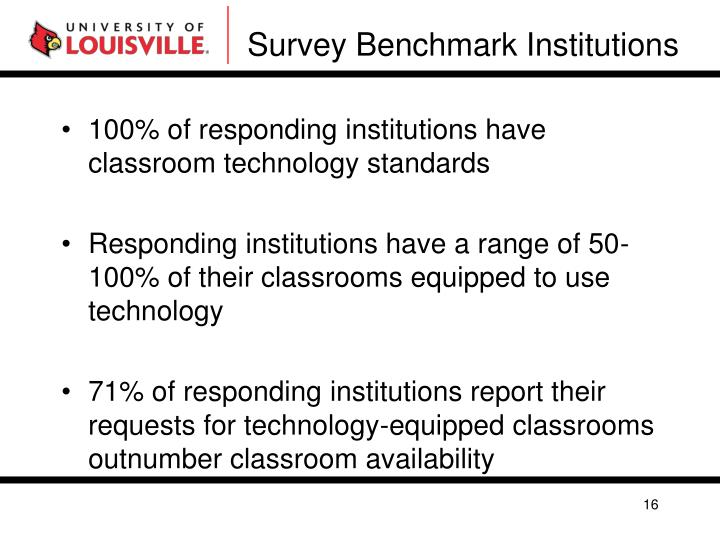 Survey Benchmark Institutions