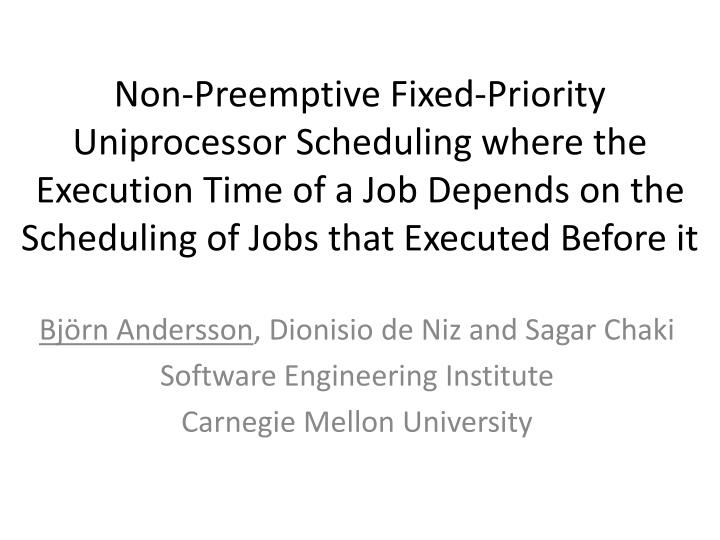 Non-Preemptive Fixed-Priority