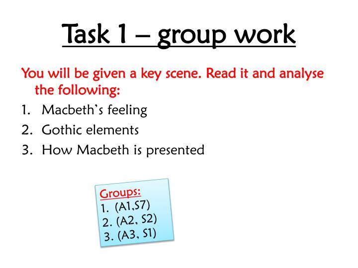 Task 1 – group work