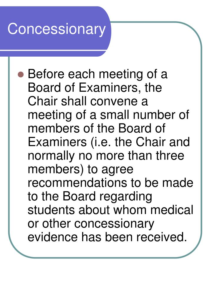 Concessionary Meetings
