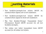 c ounting materials cont