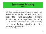 d ocument security cont