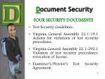 d ocument security