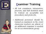 e xaminer training