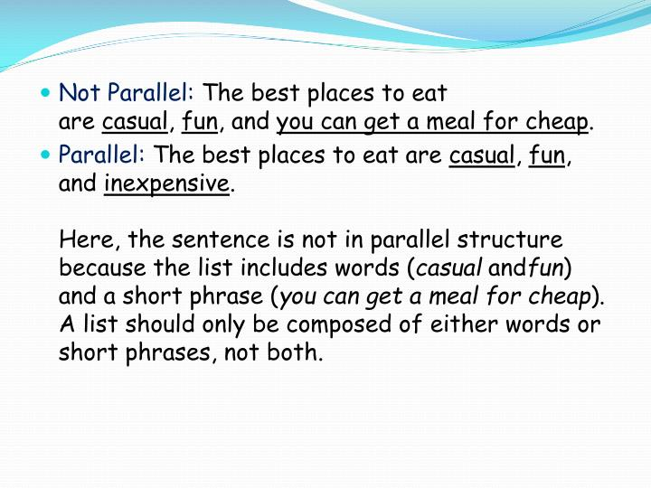 Not Parallel: