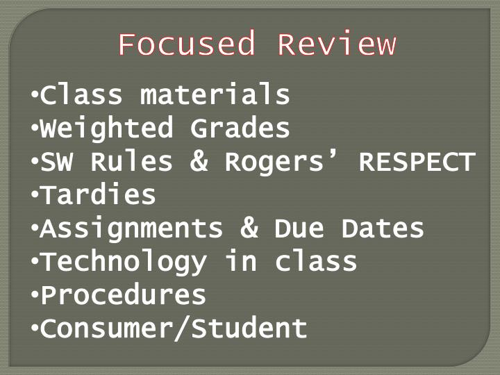 Focused Review
