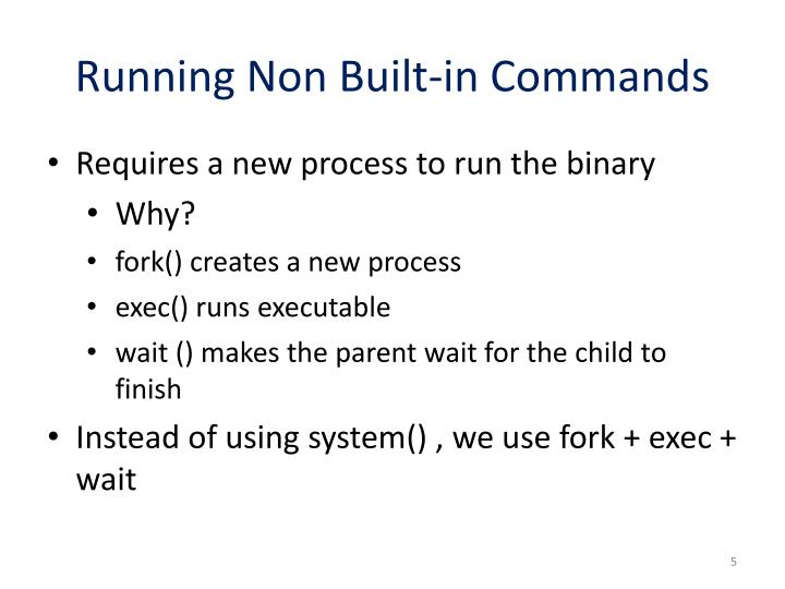 Running Non Built-in Commands