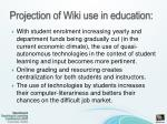 projection of wiki use in education
