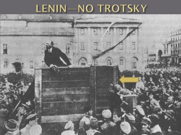 LENIN—NO TROTSKY