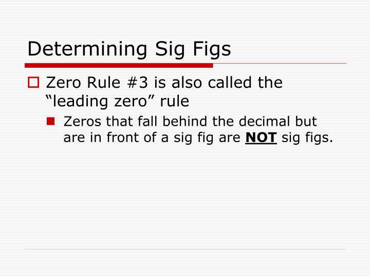 Determining Sig Figs