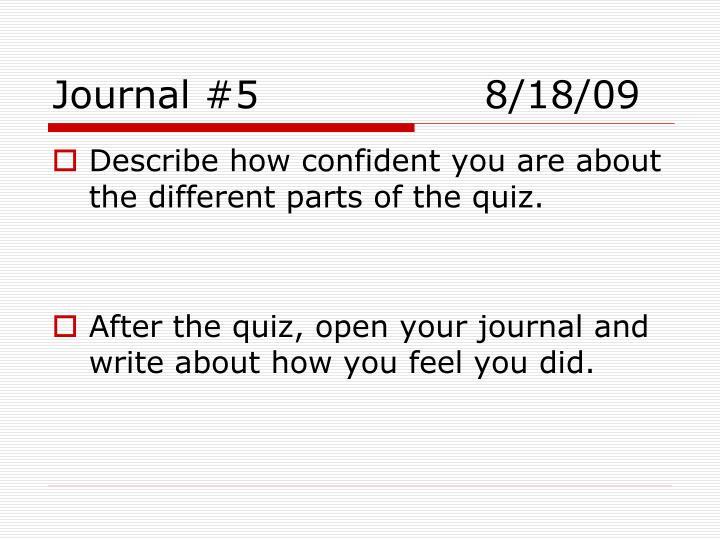 Journal #58/18/09