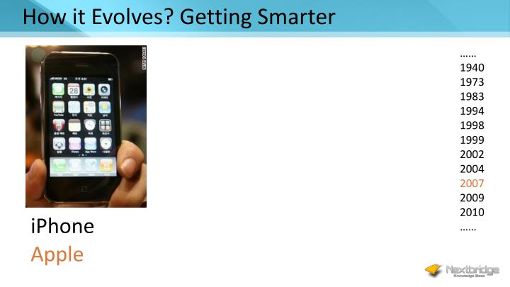 How it Evolves? Getting Smarter