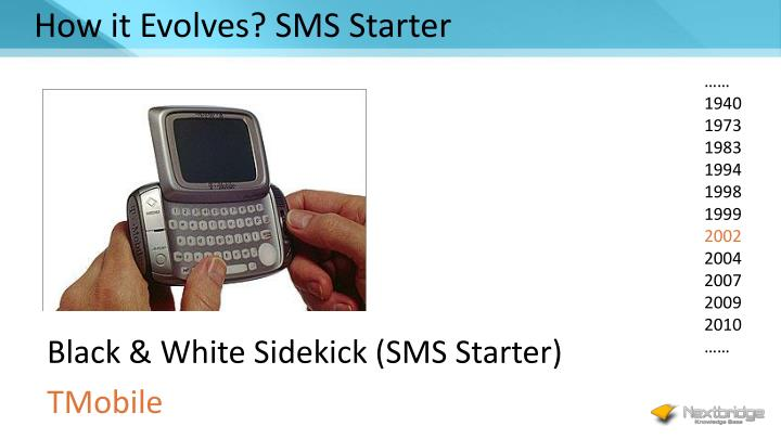 How it Evolves? SMS Starter