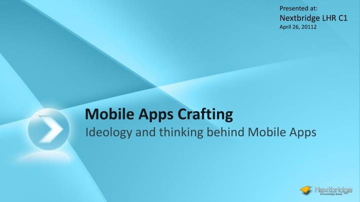 Mobile apps crafting