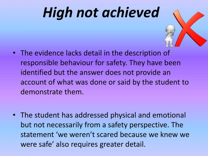 High not achieved