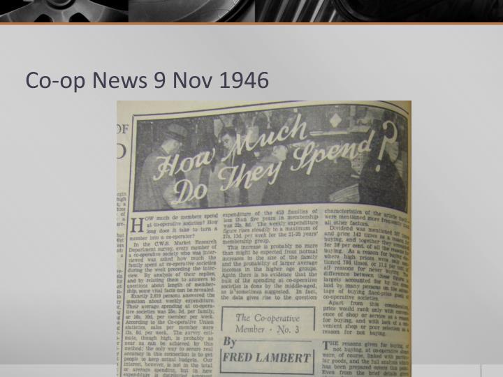Co-op News 9 Nov 1946