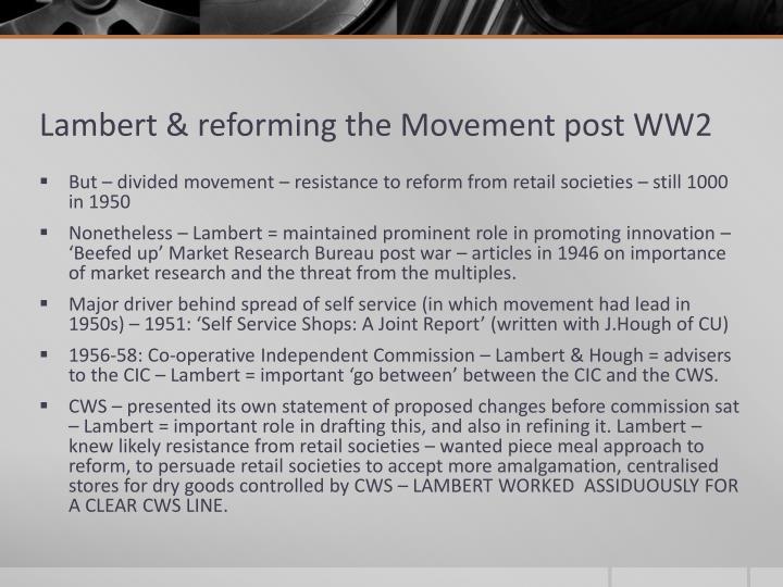 Lambert & reforming