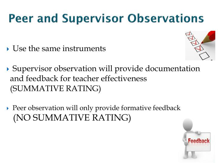 Peer and Supervisor Observations