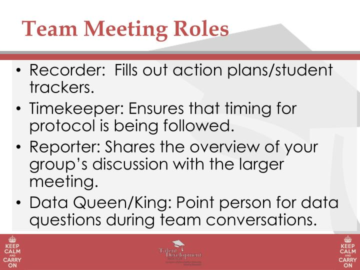 Team Meeting Roles